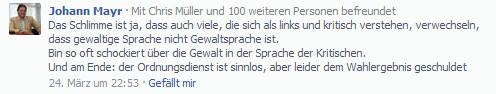 Johann Mayr Stadtwache sinnlos
